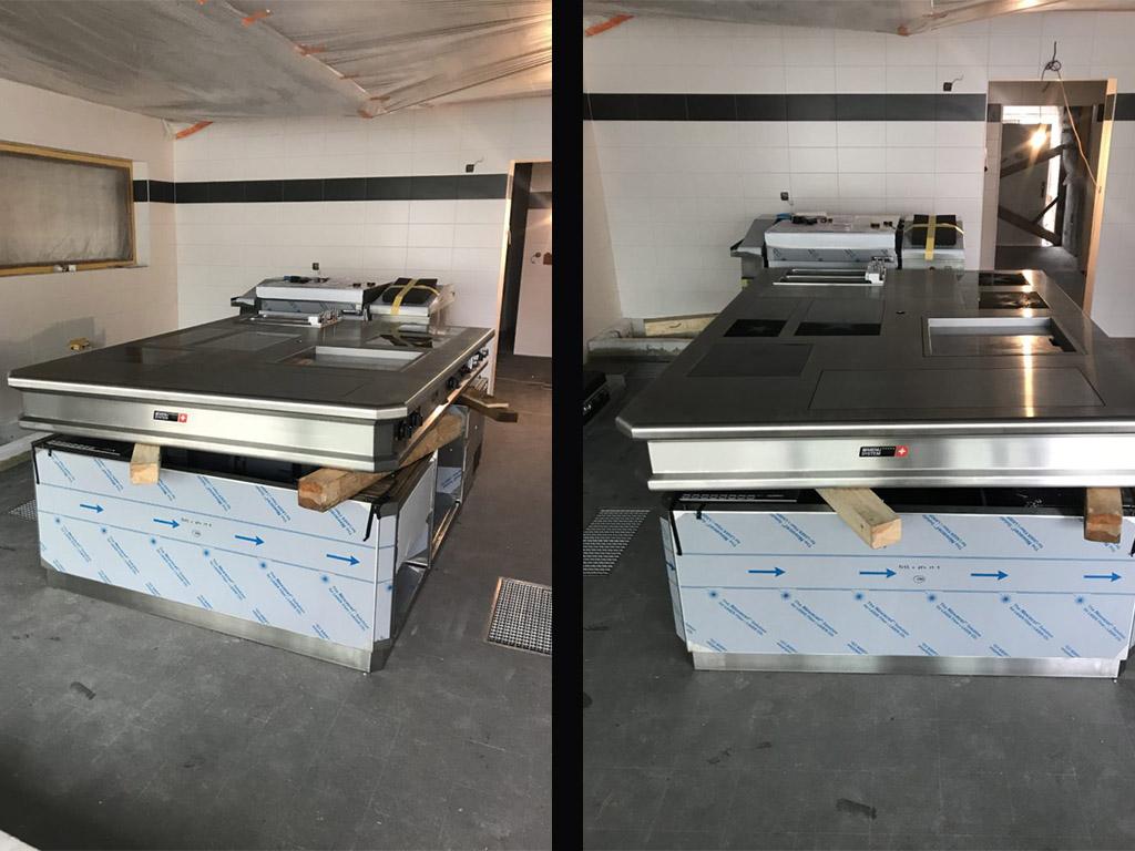 Stodola Herink Stavba kuchyně - indukční deska