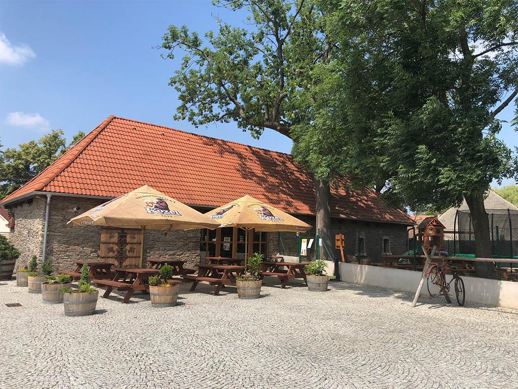 Stodola Herink - Zahrádka po rekonstrukci